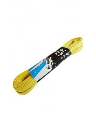 Żółte płaskie woskowane sznurówki do butów 120 cm Kaps
