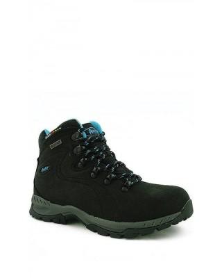 Buty trekkingowe damskie czarne skórzane LOS9012