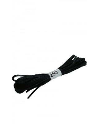Czarne woskowane sznurówki do butów płaskie 250 cm Halan