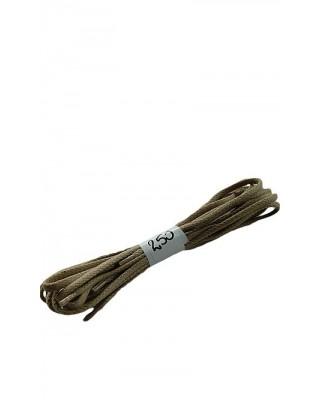 Ciemnobeżowe woskowane sznurówki do butów płaskie 250 cm Halan