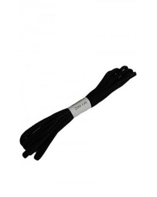 Czarne woskowane sznurówki do butów płaskie 200 cm Halan