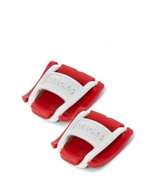 Klipsy do sznurowadeł Bracks czerwono-białe
