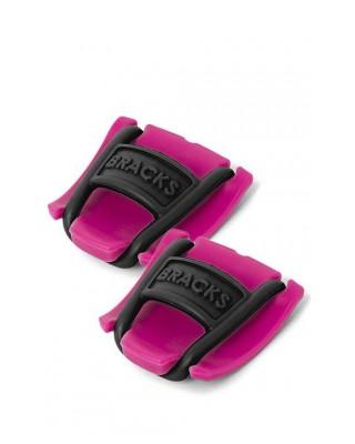 Klipsy do sznurowadeł Bracks różowo-czarne