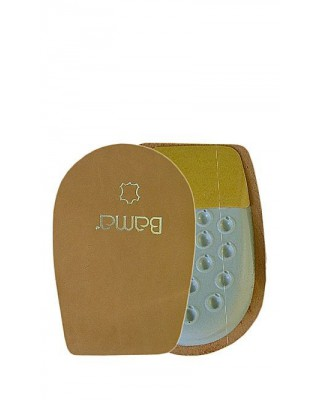 Beżowy podpiętek skórzany do butów na lateksie Bama