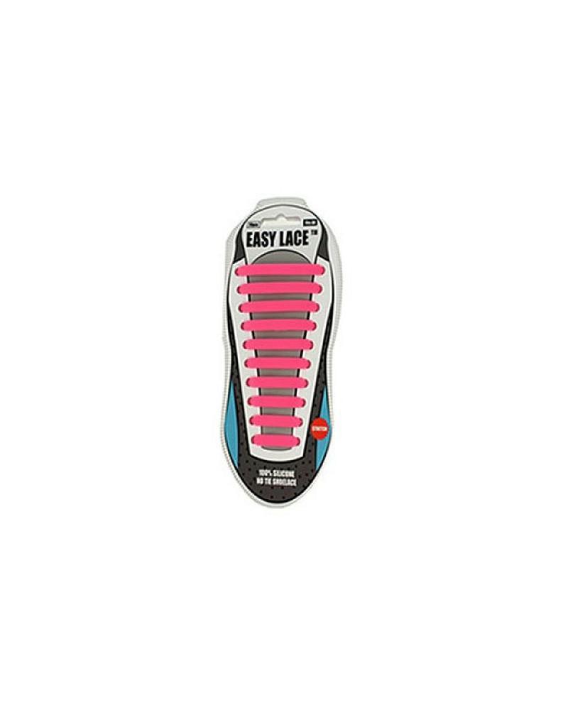 Różowe sznurówki silikonowe do butów Easy Lace 20 szt