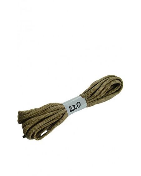 Beżowe sznurówki do butów bawełniane płaskie 220 cm Halan