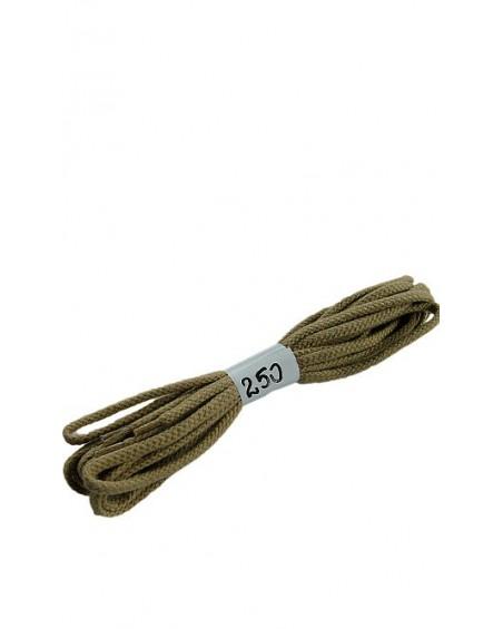 Ciemnobeżowe sznurówki do butów bawełniane płaskie 250 cm Halan