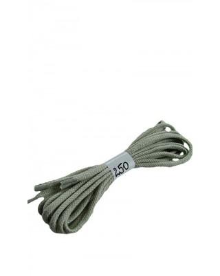 Jasnopopielate sznurówki do butów bawełniane płaskie 250 cm Halan