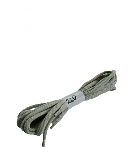 Jasnopopielate sznurówki do butów bawełniane płaskie 220 cm Halan