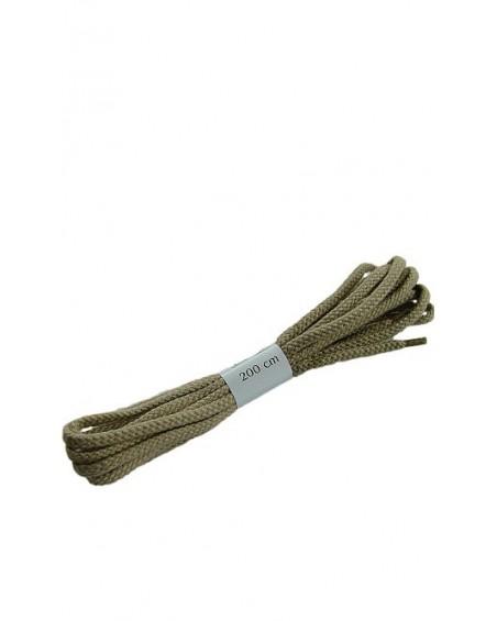 Ciemnobeżowe sznurówki do butów płaskie 200 cm Halan