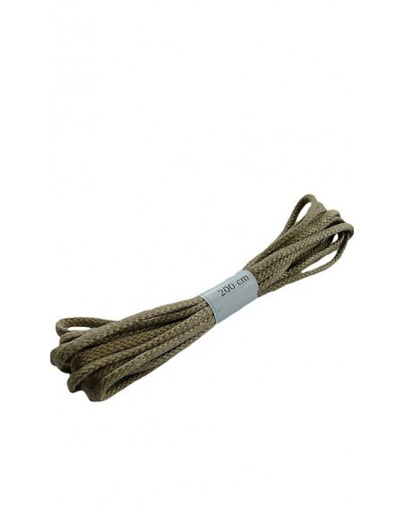 Ciemnobeżowe woskowane sznurówki do butów płaskie 200 cm Halan
