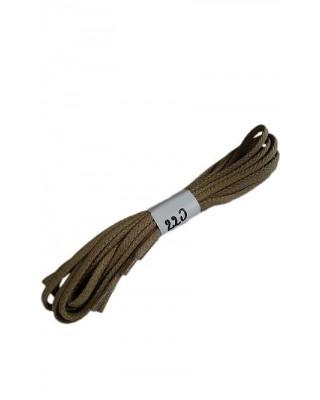 Ciemnobeżowe woskowane sznurówki do butów płaskie 220 cm Halan
