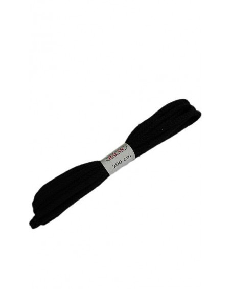 Czarne sznurówki do butów bewełniane płaskie 200 cm Halan