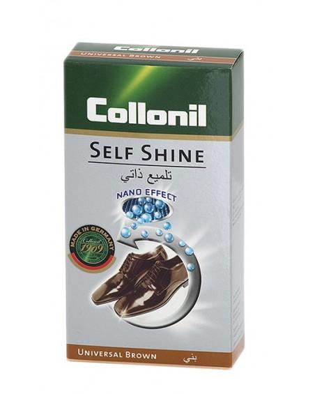 Brązowa pasta w płynie do skóry licowej Self Shine Collonil