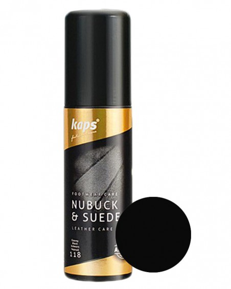 Czarna pasta w płynie do zamszu, nubuku, tekstyliów, Kaps 75 ml