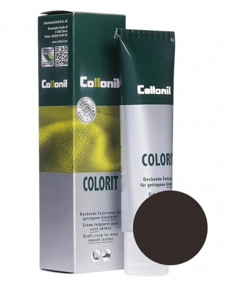 Ciemnobrązowa pasta, renowator do skóry licowej, Colorit Collonil