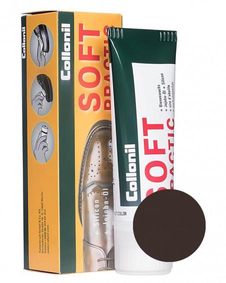 Ciemnobrązowa pasta do butów, Soft Practic Collonil 399, 75 ml