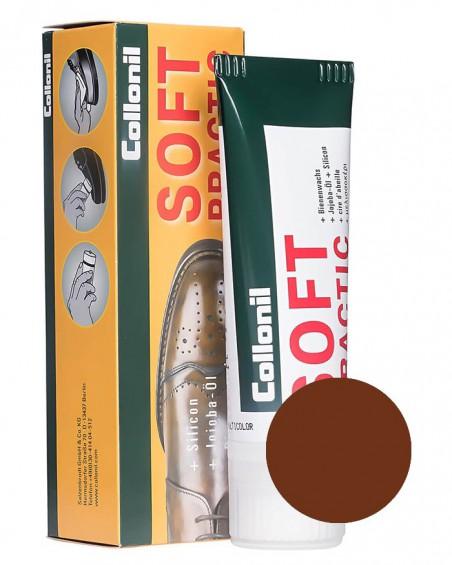 Brązowa pasta do butów, Soft Practic Collonil 398, 75 ml