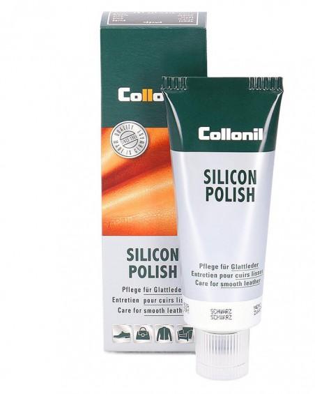 Jasnobrązowa pasta do skóry gładkiej, Silicon Polish Collonil, 75 ml