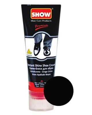 Pasta, krem do butów samopołyskowy, czarny, Show, 75 ml