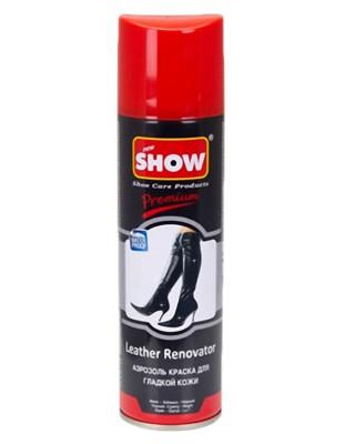 Czarny renowator do skór licowych, gładkich w sprayu, Show
