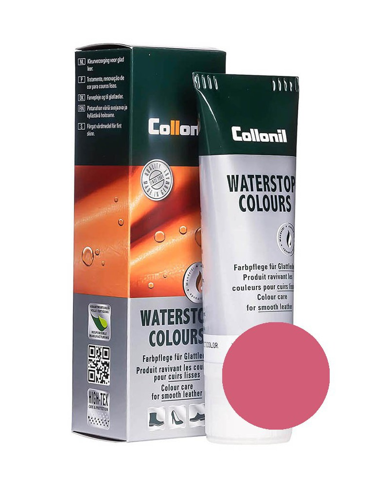 Różowa pasta do butów, Waterstop Collonil 439, Fuchsia, 75 ml