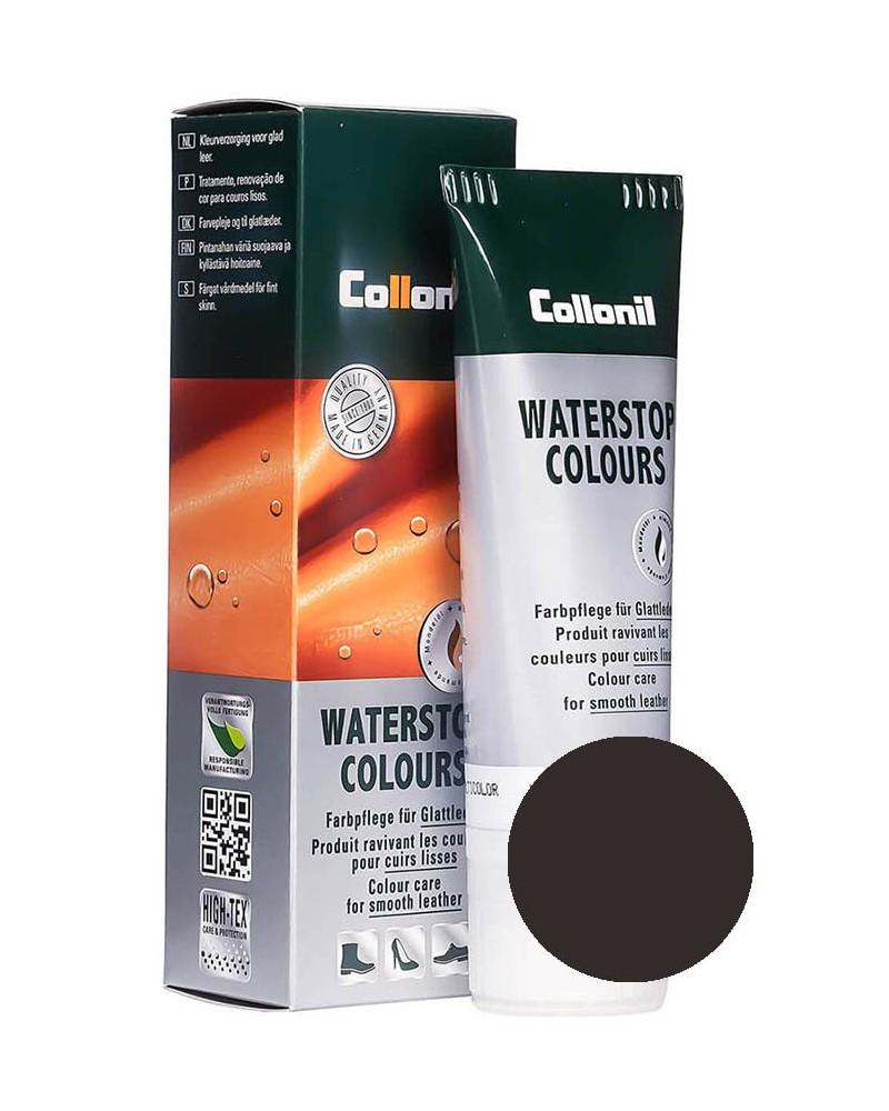 Ciemnobrązowa pasta do butów, Waterstop Collonil 399, 75 ml