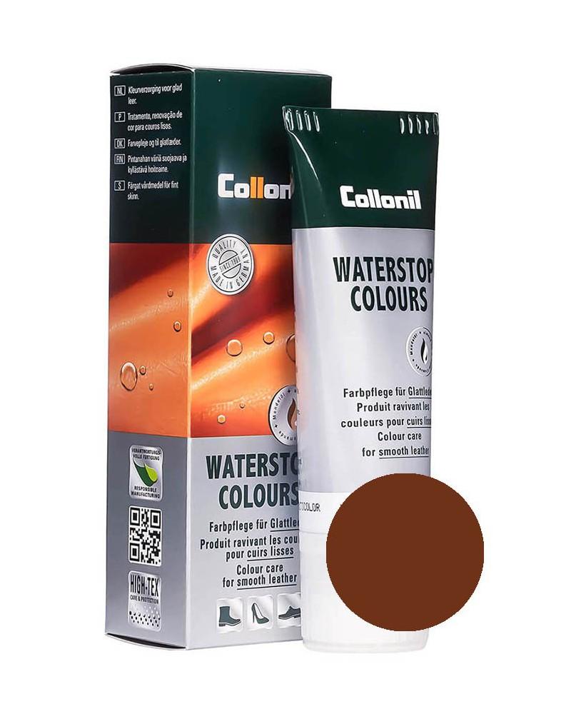 Brązowa pasta do butów, Waterstop Collonil 398, 75 ml