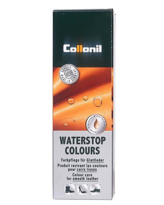 Granatowa pasta do butów, Waterstop Collonil, Jeans 576
