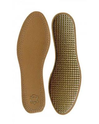 Wkładki do butów, skórzane na folii aluminiowej, męskie, Mazbit