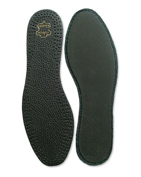 Wkładki do butów, skórzane, amortyzujące, na lateksie, damskie, czarne