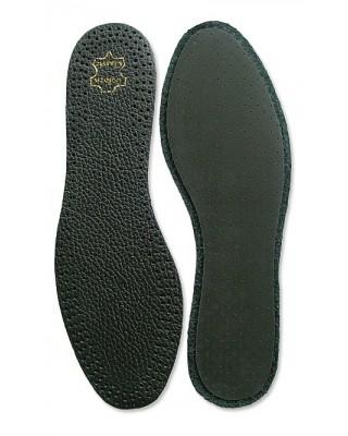Wkładki do butów, męskie, czarne, skórzane na lateksie