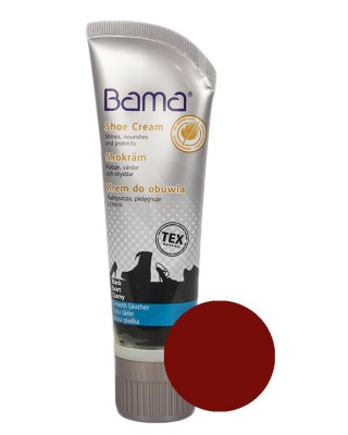 Bordowy krem pasta do butów Shoe Cream 26 Bama 75 ml
