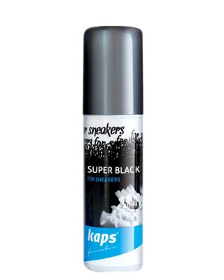 Czarny preparat do odnowy trampek, tenisówek, Super Black, Kaps
