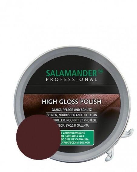Brązowa, klasyczna pasta do butów, High Gloss Polish, Salamander