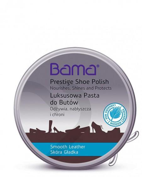 Brązowa, klasyczna pasta do butów w metalowym pudełku, Lux, Bama