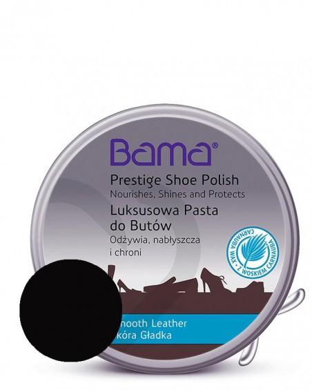 Czarna, klasyczna pasta do butów w metalowym pudełku, Lux, Bama