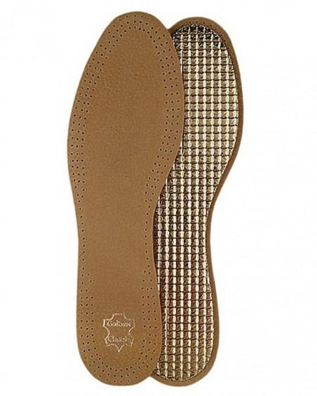 Wkładki do butów, skórzane, na folii aluminiowej damskie, Mazbit