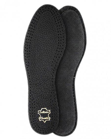 Wkładki do butów, skórzane, amortyzujące, na lateksie, męskie, czarne