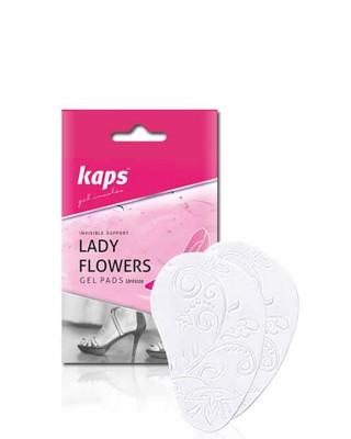 Żelowe poduszeczki antypoślizgowe do obuwia na obcasie, Lady Flowers, Kaps