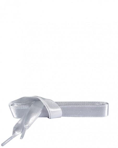 Satynowe, srebrne, płaskie sznurówki do butów, 90 cm, Kaps