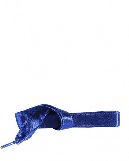 Satynowe, granatowe, płaskie sznurówki do butów, 90 cm, Kaps