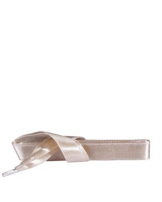 Satynowe, beżowe, płaskie sznurówki do butów, 90 cm, Kaps