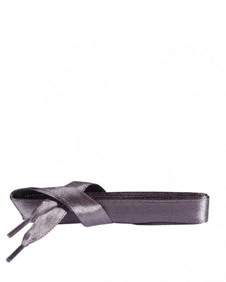 Satynowe, szare, płaskie sznurówki do butów, 120 cm, Kaps