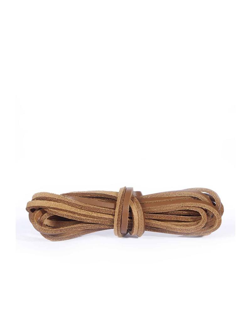 Skórzane sznurówki, rzemyki do butów, 120 cm, Kaps, Neutral