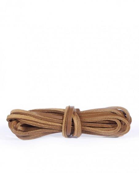 Skórzane sznurówki, rzemyki do butów, 140 cm, Kaps, Neutral
