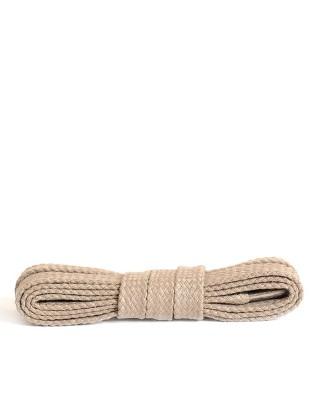 Jasnobeżowe, płaskie, sznurówki do butów, 120 cm, Kaps