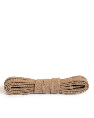 Beżowe, sznurówki do butów, płaskie, 100 cm, Kaps