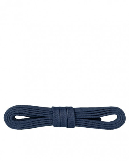 Granatowe, płaskie, woskowane sznurówki do butów, 90 cm, Kaps