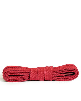 Czerwone, płaskie, bawełniane sznurówki do butów, 75 cm, Kaps